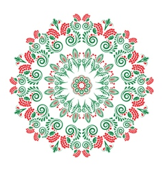 Abstract pattern with floral ornaments vector