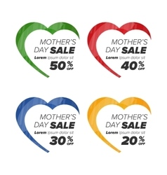Hearts icons with discount vector