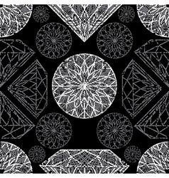 diamonds seamless grunge 01 vector image