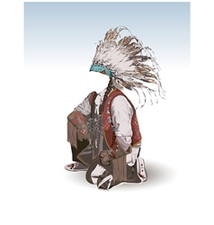 Clothing of the american indian vector