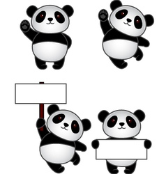 Funny panda cartoon vector
