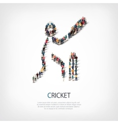 People sports cricket vector