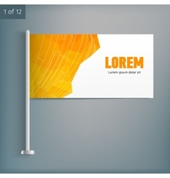 Template for advertising and corporate identity vector