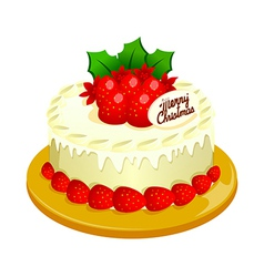 A cake is placed vector image