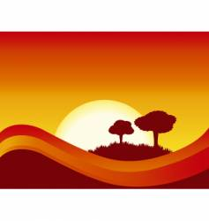abstract sunset vector image