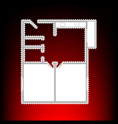 Apartment house flo plans vector
