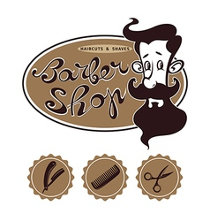 Barber shop designs vector image