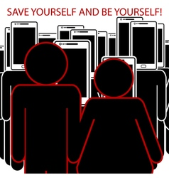 Be yourself vector