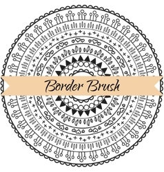 Border pattern brush set frame kit vector