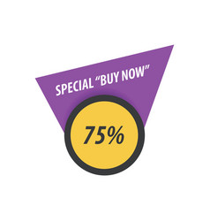 Buy now label design purple yellow black vector