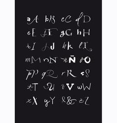 Calligraphic hand written alphabet vector
