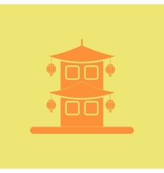 Chinese house of chinese new vector