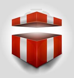 Christmas open gift box vector