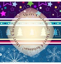 Christmas striped greeting card vector image