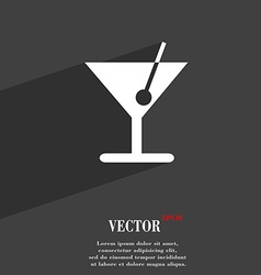 cocktail icon symbol Flat modern web design with vector image