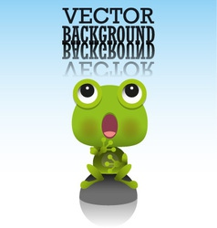 cute little frog vector image vector image