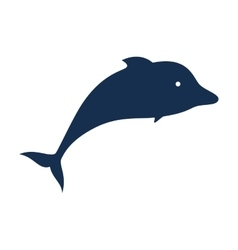 dolphin silhouette isolated icon vector image vector image