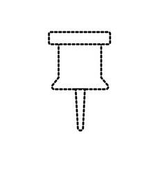 Dotted shape pin button symbol design icon vector