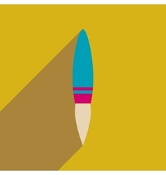 Flat web icon with long shadow rocket vector