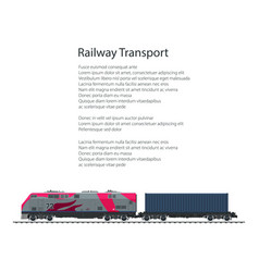 Flyer locomotive with cargo container vector