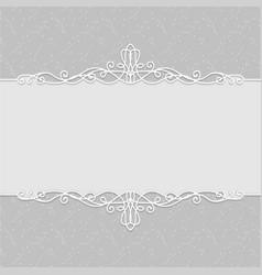 frame of beautiful wedding invitations postcards vector image