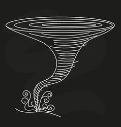 funny hurricane in cartoon style vector image