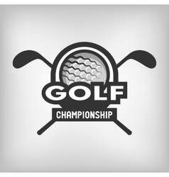 Golf sports logo vector image vector image