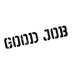 Good job stamp vector image vector image