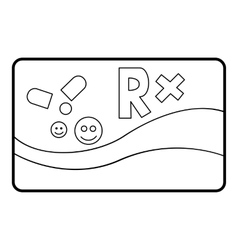 Medical card chronic diseases icon outline style vector