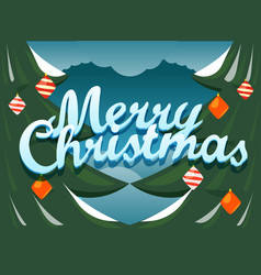 merry christmas greeting card festive concept vector image vector image