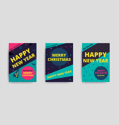 Merry christmas new year design vector