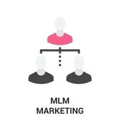mlm marketing icon vector image vector image