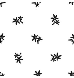 Palma pattern seamless black vector