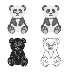 Panda icon cartoon singe animal icon from the big vector