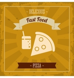 Pizza icon Menu and food design graphic vector image