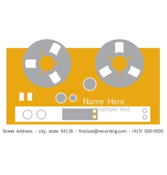 Recorder Business Card vector image