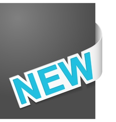right side sign new vector image