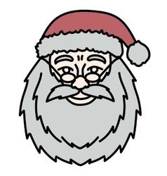 Santa Claus Hand Drawn Portrait vector image vector image