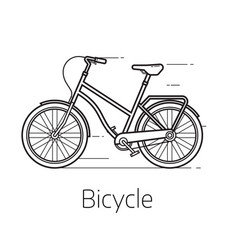 street bicycle vector image