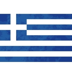 True proportions Greece flag with texture vector image