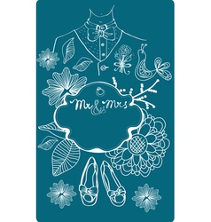 wedding congratulation card vector image