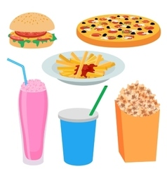 Food in flat style vector image