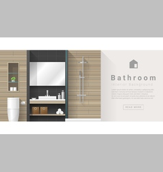 Interior design modern bathroom background 3 vector