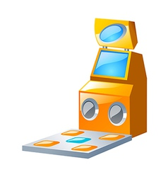 Icon game machine vector