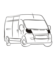 Delivery-van vector