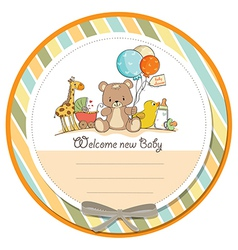 baby shower card with toys vector image