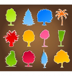 trees icon4 vector image