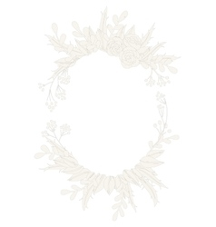 Design floral wreath vector