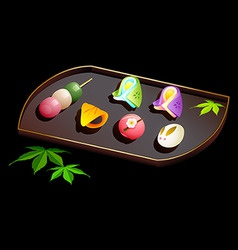 japanese sweets vector image
