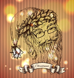 Santa claus hand drawn llustration realistic vector